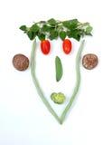ny smiley för mat Arkivfoto