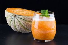 Ny smoothie av melon Arkivbilder