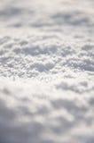 Ny snö på jordningen Arkivbild