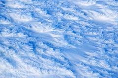 Ny snöbakgrund - abstrakt bild Arkivfoton