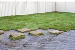ny sod för gräs arkivfoton