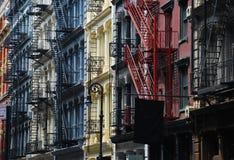 ny soho york för arkitekturgjutjärn Arkivfoton