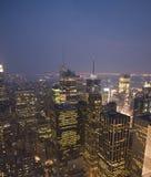 ny solnedgång york Arkivfoto
