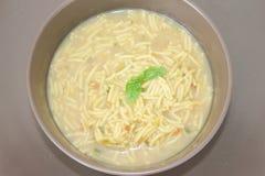 Ny soppa med nudlar Fotografering för Bildbyråer