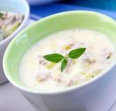 ny soup för ost arkivbild