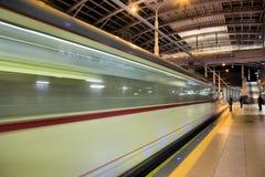 Ny spårvagnlinje i tunnel i Poznan, Polen Arkivfoto