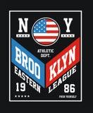 NY sportif Brooklyn Illustration de Vecteur