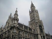 Ny stad Hall Munich, Bayern, Tyskland Arkivfoto