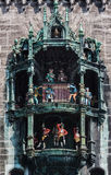 Ny stad Hall Munich Germany för Glockenspiel Fotografering för Bildbyråer