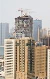 ny stigning för byggnader high arkivfoto