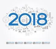 ny strategi för framgång för affär 2018 Arkivbild