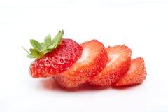 Ny strawbery på vit bakgrund arkivbild