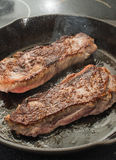 NY Strip Steaks Royalty Free Stock Photography