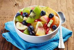 Ny sund fruktsallad Royaltyfri Fotografi