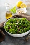 Ny sund sallad med grönkål och tranbäret Arkivfoton