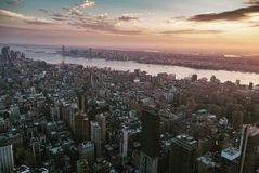 NY sunset Royalty Free Stock Photos