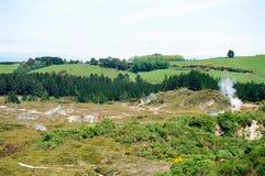 ny taupo vulkaniska zealand för område Arkivfoton