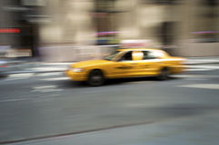 NY Taxi Blur Stock Photo