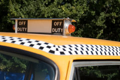 NY Taxi Off Duty Sign Stock Photo
