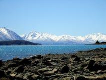 ny tekapo zealand för lake Arkivfoton