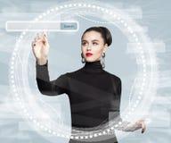 Ny teknik, internet och rengöringsduk som surfar begrepp royaltyfria bilder