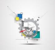 Ny teknikaffärsbakgrund Arkivfoto