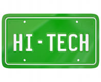 Ny teknikDigital för högteknologisk registreringsskylt modern bil Automobi Arkivbild