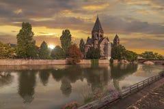 Ny tempel Metz royaltyfri foto
