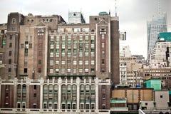 ny tenement york för byggnadsstad Arkivbild