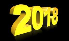 Ny 2018 text för år 3d Fotografering för Bildbyråer