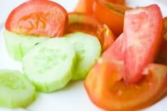 ny tomat för gurka Royaltyfria Foton