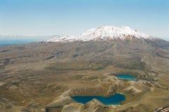 ny tongarirovulkan zealand för lakes Arkivfoto