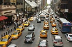 ny trafik york Arkivfoton