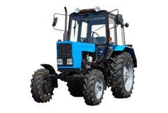 ny traktorwhite för bakgrund Fotografering för Bildbyråer