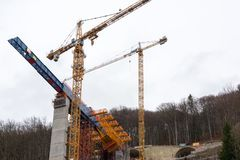 Ny tunnelkonstruktion - Stuttgart 21, Aichelberg Royaltyfri Fotografi