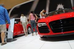 Ny tysk toppen bil på den auto showen Arkivfoton