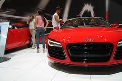 Ny tysk toppen bil på den auto showen Fotografering för Bildbyråer