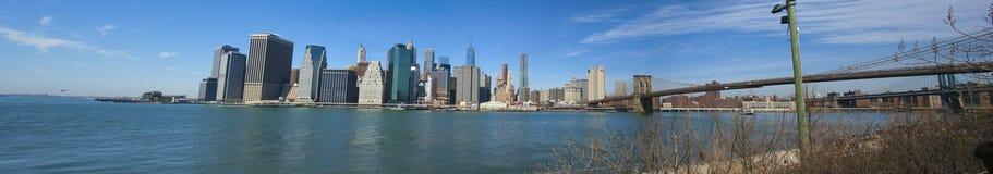 Ny uma ponte de Brooklyn imagem de stock