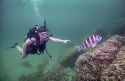 Ny ung dykare Royaltyfri Foto