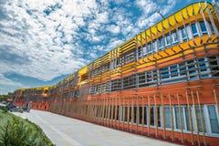 Ny universitetsområde WU, Wien universitet av nationalekonomi och affären Arkivbild