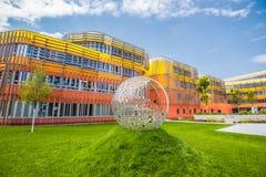 Ny universitetsområde WU, Wien universitet av nationalekonomi och affären Fotografering för Bildbyråer