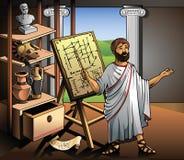 Ny uppfinning av Archimedes stock illustrationer