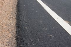 ny väg för asfalt Arkivbilder
