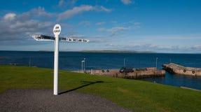 Ny vägvisare och hamn för John 'nolla-gryn Royaltyfri Fotografi