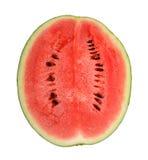 Ny vattenmelon på vit Arkivbild