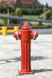 Ny vattenpost på nya boulevarder i Szczecin på en solig dag Royaltyfria Foton
