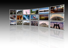 NY - Videowall Stock Photos