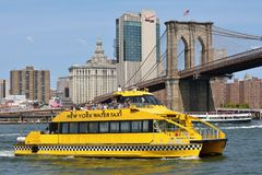 NY Water Taxi on the East River Royalty Free Stock Image