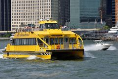 NY Water Taxi on the Hudson River Stock Images