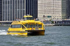 NY Water Taxi on the Hudson River Royalty Free Stock Images